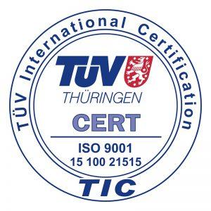 Qualität, Präzision & Zuverlässigkeit - TÜV-Zertifikat ISO 9001